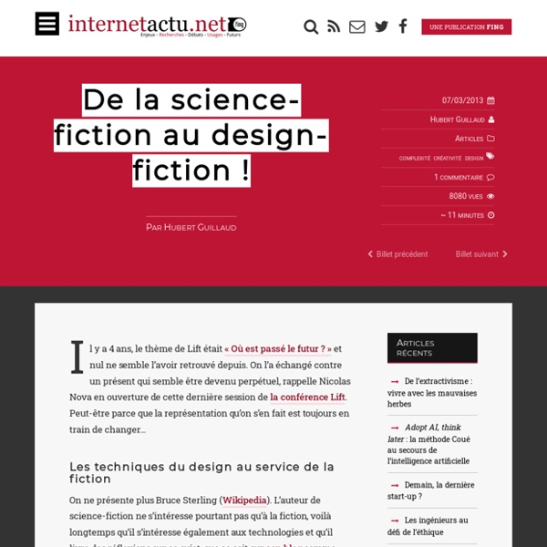 De la science-fiction au design-fiction !