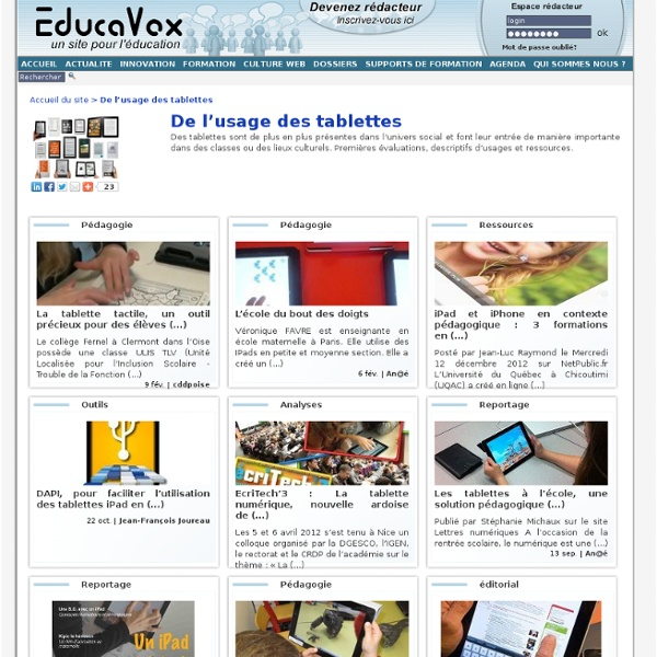 De l'usage des tablettes