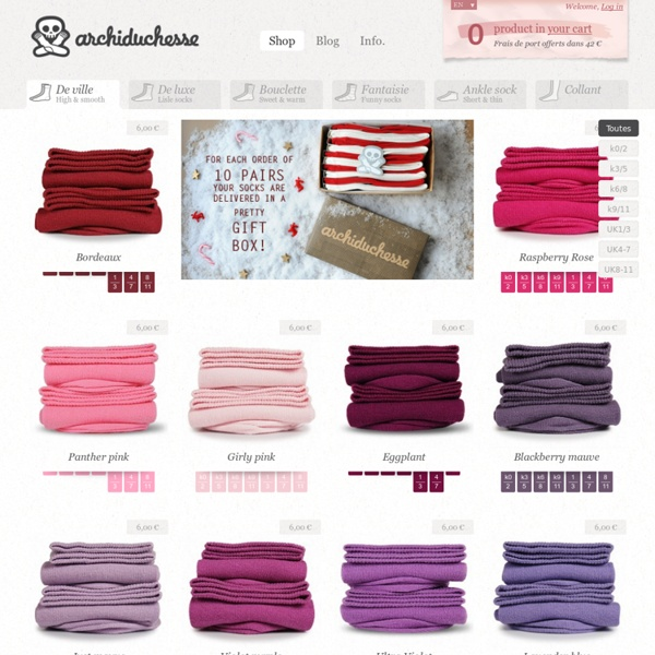 Chaussettes Archiduchesse - 42 couleurs & Made in France