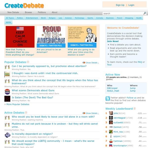 Online Debate Community