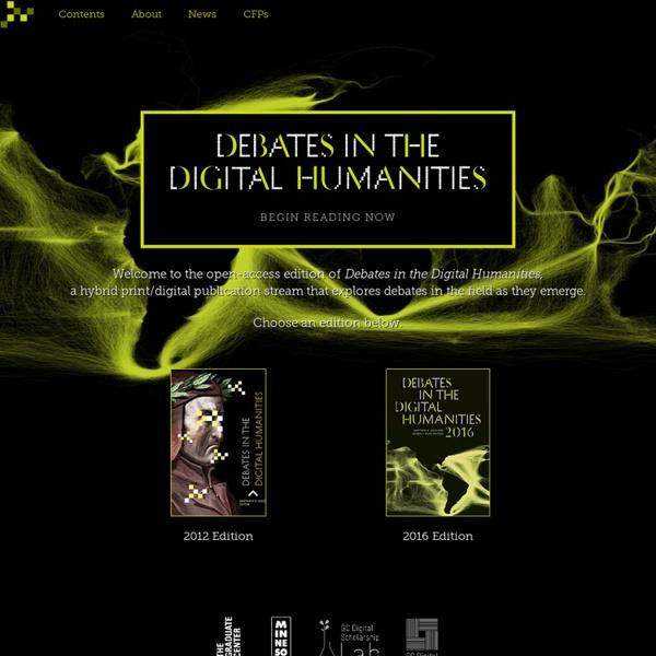 Debates in the Digital Humanities