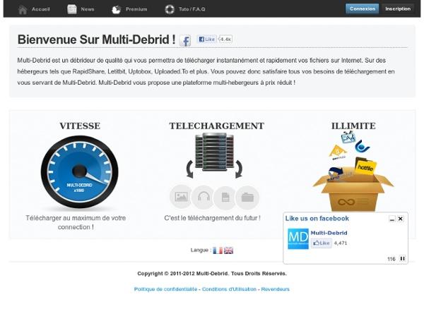 Multi-Debrid.Com - Quality Unrestricted Downloaders