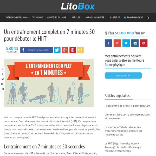 Débutant en HIIT : un entraînement complet en 7 minutes