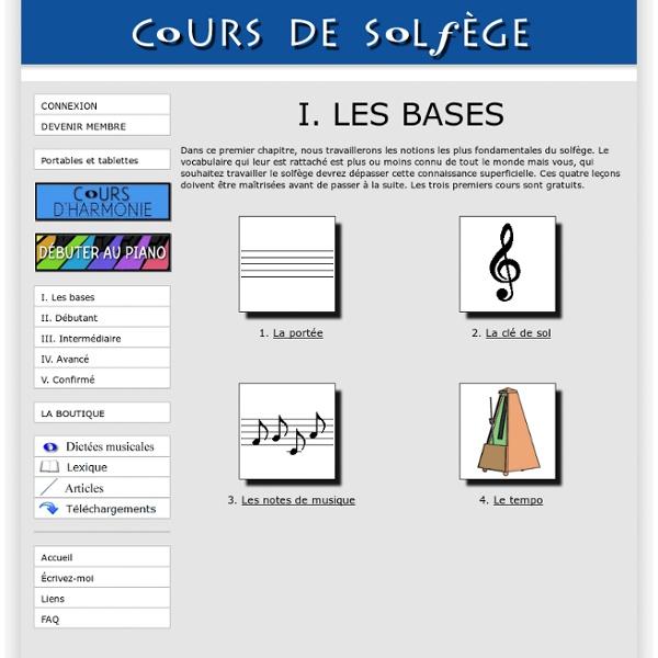 Les bases cours de solf ge en ligne gratuits pearltrees for Cours de paysagiste gratuit