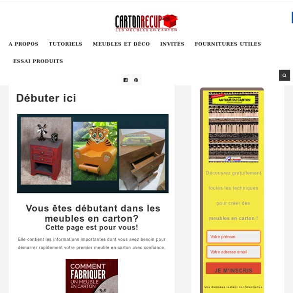 Meubles en carton fabrication et tutoriels