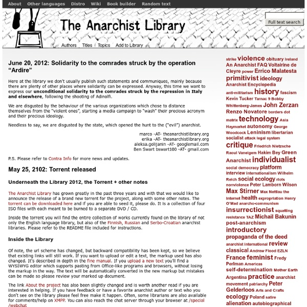 An archive of anarchist literature