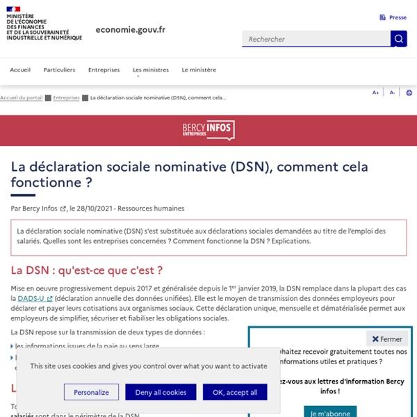 La déclaration sociale nominative (DSN), comment cela fonctionne ?