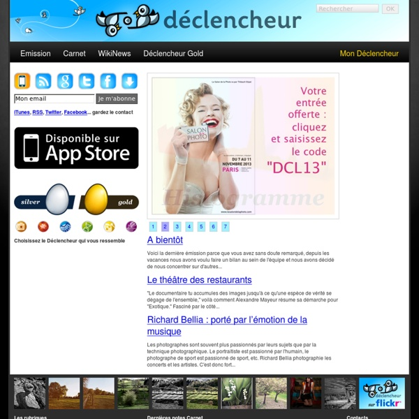 Déclencheur, le magazine de la photo à télécharger sur iTunes, iPod, iPhone, iPad et autres