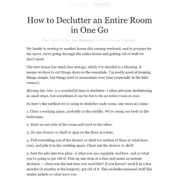 » How to Declutter an Entire Room in One Go