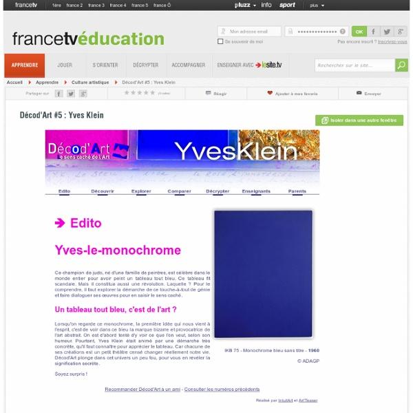 Décod'Art #5 : Yves Klein