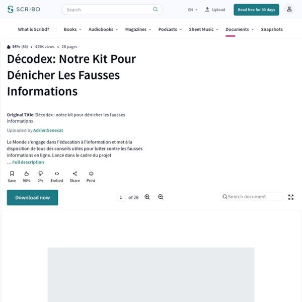 Décodex : notre kit pour dénicher les fausses informations