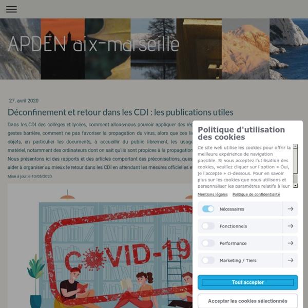 Déconfinement et retour dans les CDI : les publications utiles - APDEN Aix-Marseille