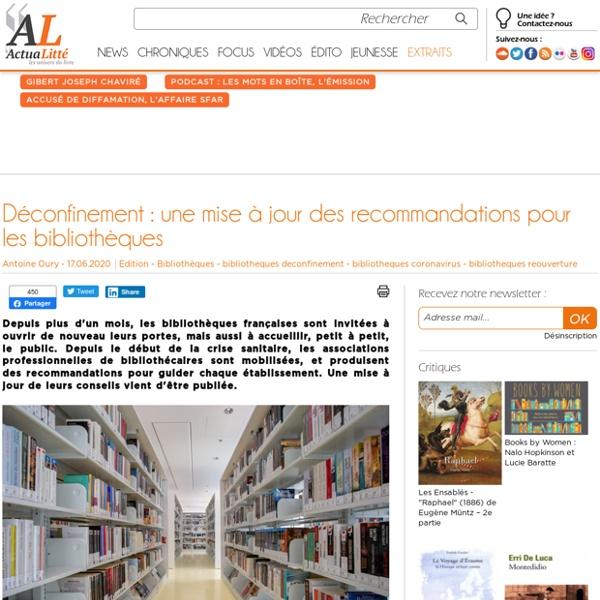 Déconfinement : une mise à jour des recommandations pour les bibliothèques