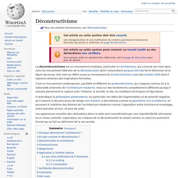 Déconstructivisme - Wikipédia - Waterfox