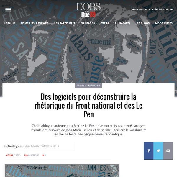 Des logiciels pour déconstruire la rhétorique du Front national et des Le Pen