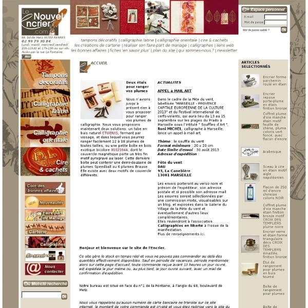 Le Nouvel Encrier (tampons décoratifs - calligraphie latine & orientale - cire & cachets - Rennes)