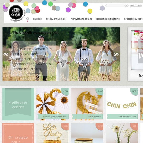 Tout pour la fête : décoration mariage DIY, fête, anniversaire enfant, baby shower, baptême, naissance - Modern Confetti