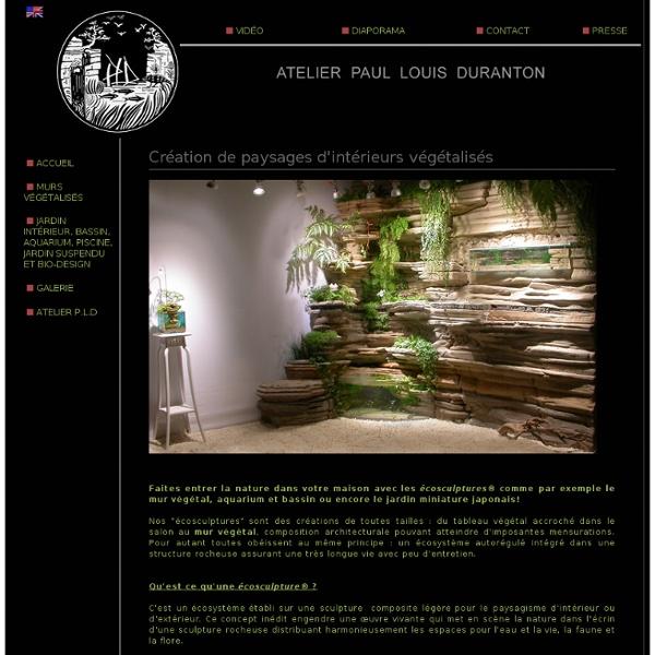 Mur végétal, décoration d'aquarium et bassins de l'Atelier Paul Louis Duranton.