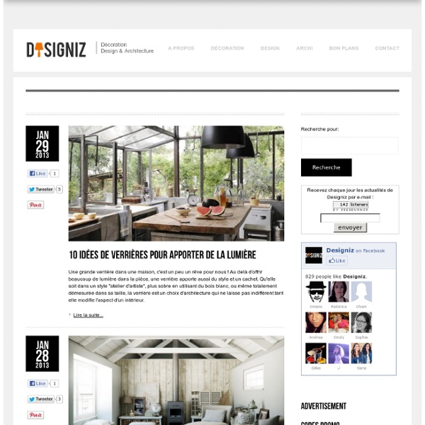Designiz blog d coration int rieure design for Magazine architecture interieure