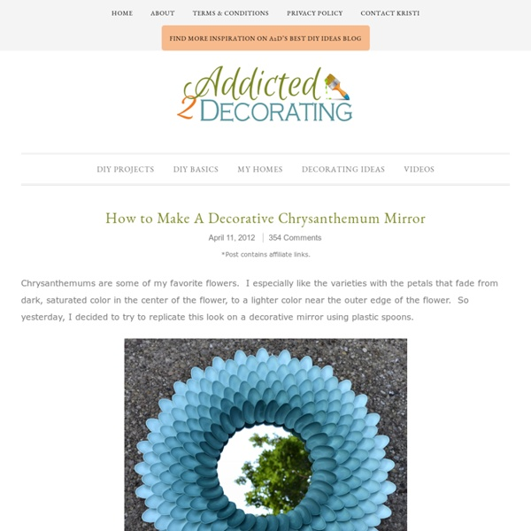 How to Make A Decorative Chrysanthemum Mirror