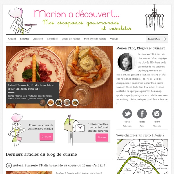 Marion a découvert – Le Blog Cuisine de Marion Flipo