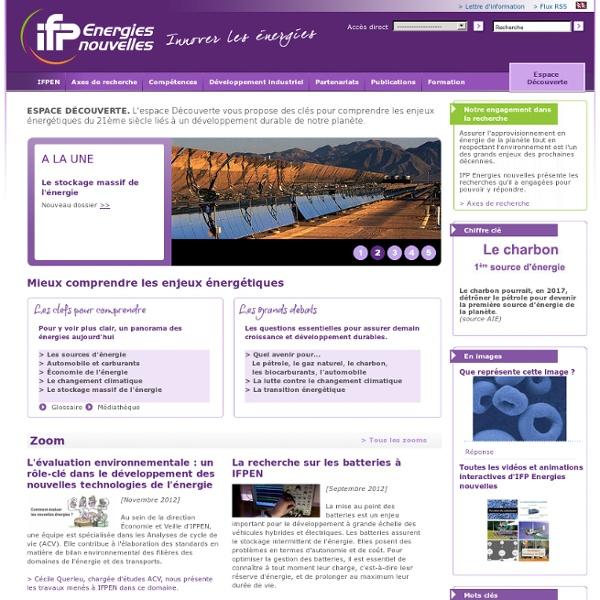 Espace Découverte - IFP Energies nouvelles, Mieux comprendre les enjeux énergétiques, enjeux pétrole, gaz naturel...