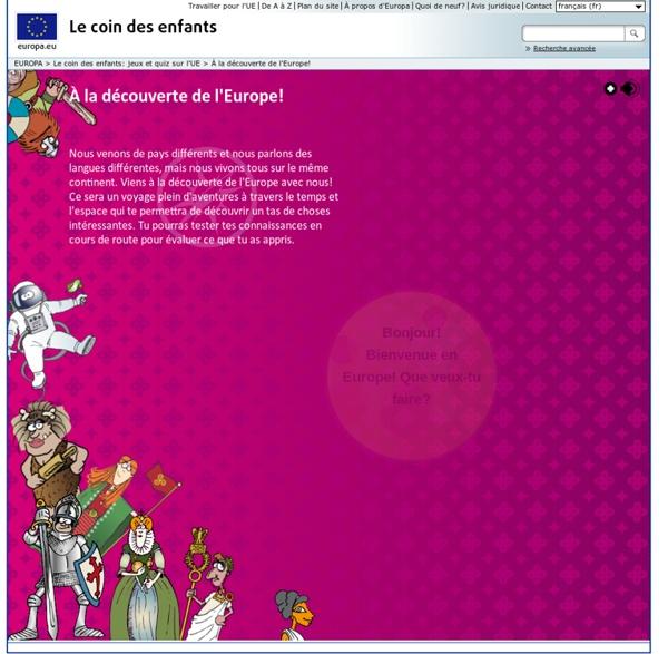 À la découverte de l'Europe! Jeux de geographie, culture, histoire...