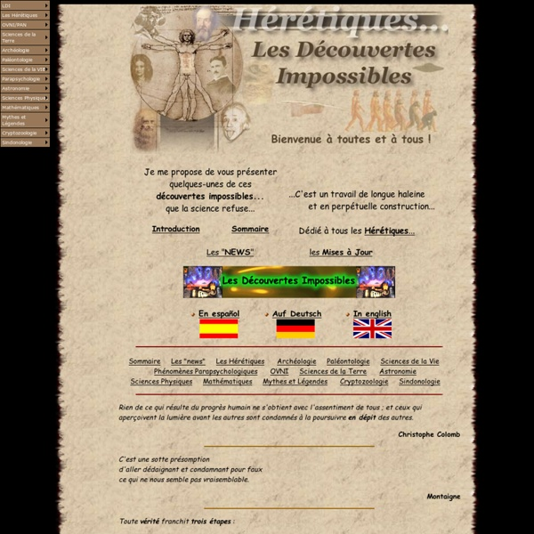 Les Découvertes Impossibles - http://ldi5.com - Accueil