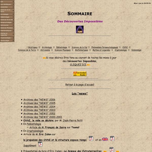 Les Découvertes Impossibles - http://ldi5.com - Sommaire
