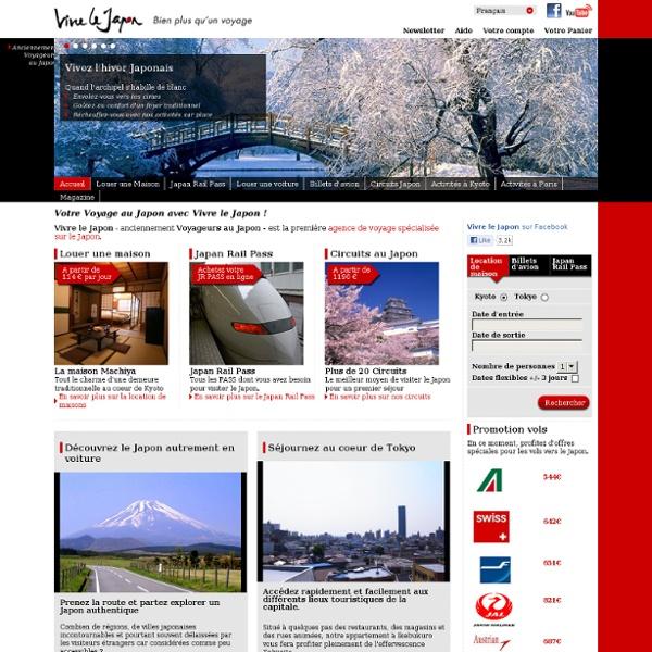 Voyage Japon, découvrez Vivre le Japon, Anciennement Voyageurs au Japon