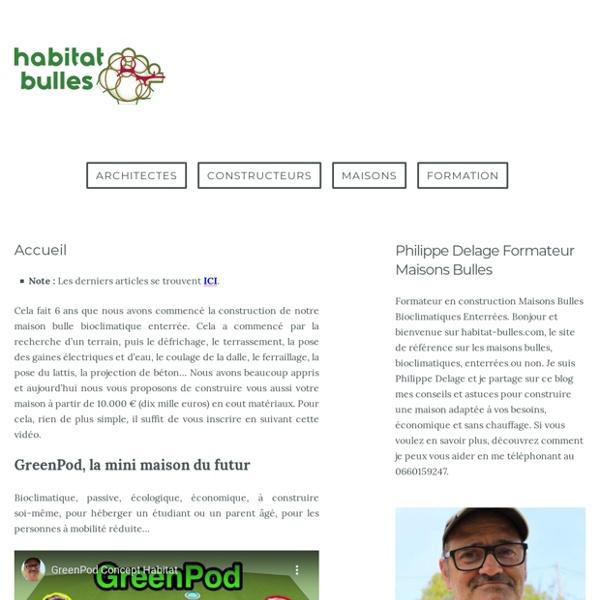 Découvrez la maison bioclimatique enterrée à 10 000 € !!!