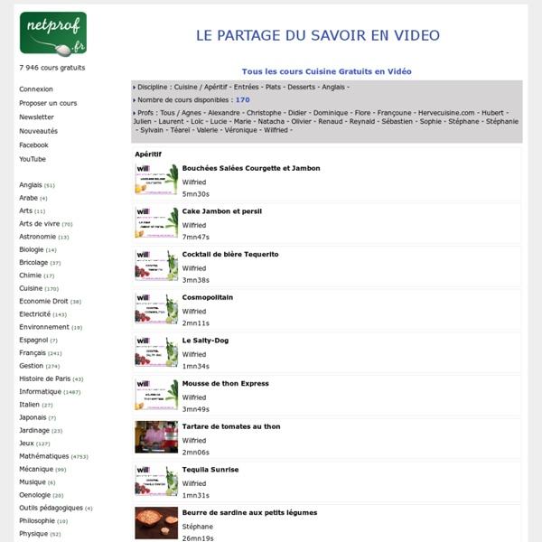 Découvrez le Cours Cuisine Gratuit en Vidéo