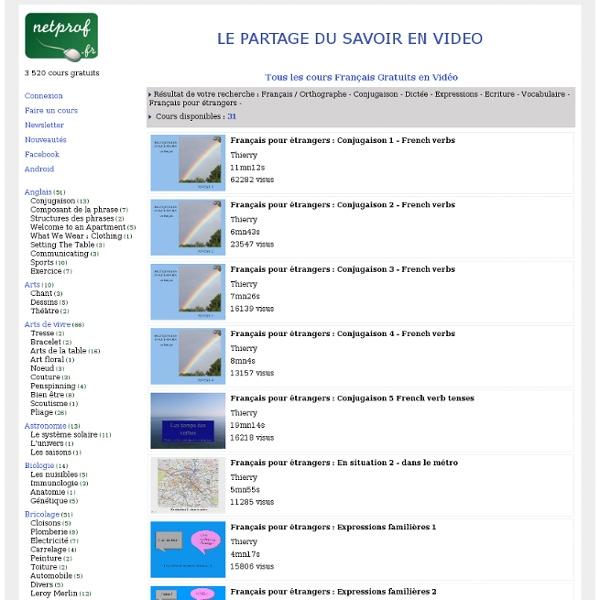 Découvrez le Cours Français pour étrangers Gratuit en Vidéo