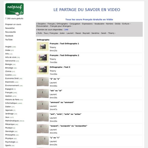 Découvrez le Cours Français Gratuit en Vidéo