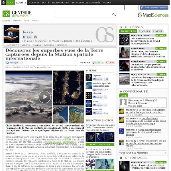 Photos - Découvrez les superbes vues de la Terre capturées depuis la Station spatiale internationale