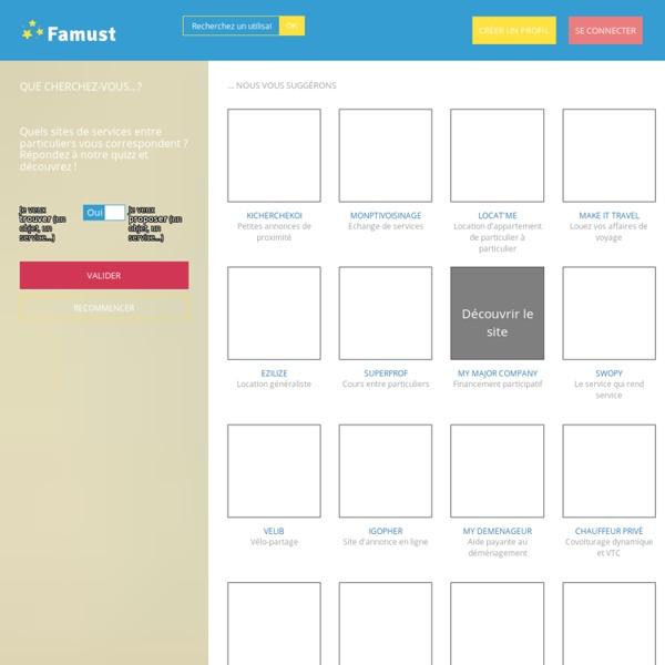 Famust - Annuaire de sites collaboratifs France