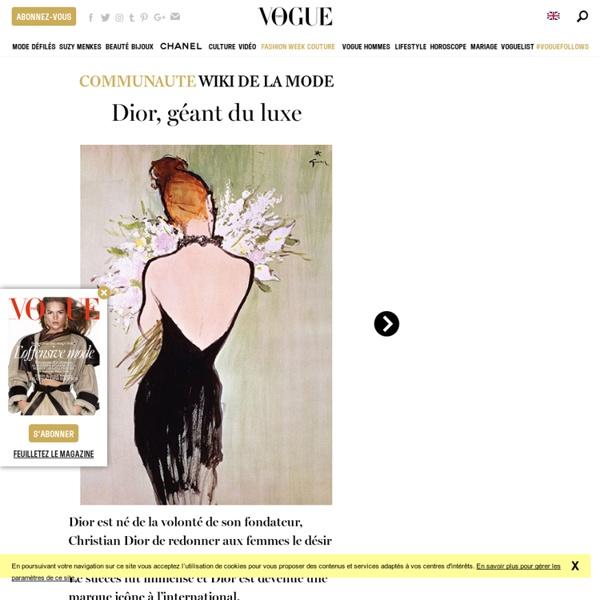 Découvrez Dior, une marque prestigieuse du luxe français fondée par Christian Dior