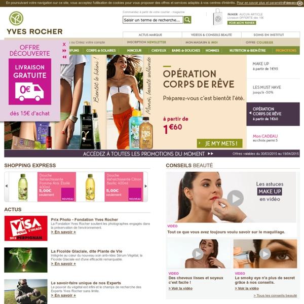 Yves rocher cosm tique v g tale parfums maquillage beaut naturelle pea - Vente correspondance belgique ...