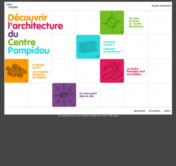 Découvrir l'Architecture du Centre Pompidou - Accueil