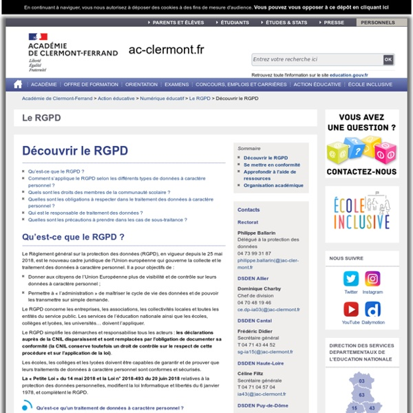 Découvrir le RGPD