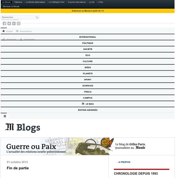 Guerre ou paix - Blog LeMonde.fr