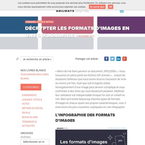 Décrypter les formats d'images en une infographie