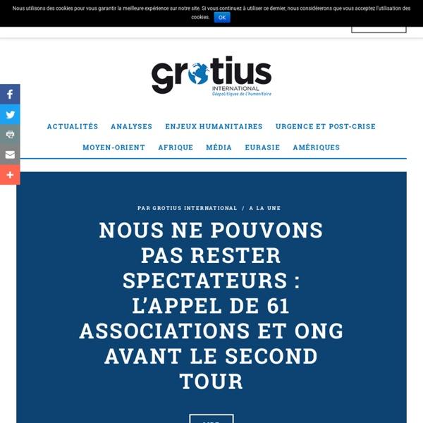 Grotius. fr, thematique medias et humanitaire