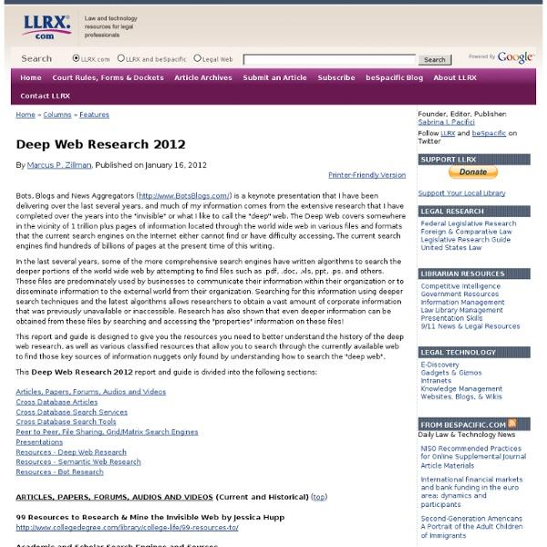 Deep Web Research 2012