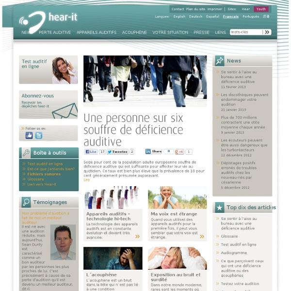 Audition et déficience auditive