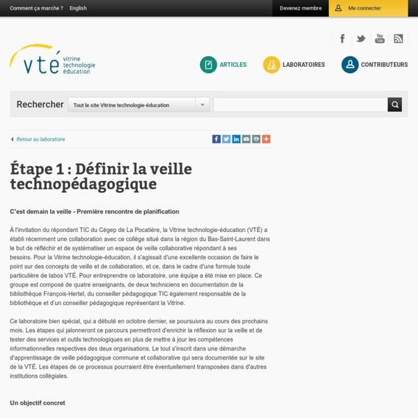Définir la veille technopédagogique