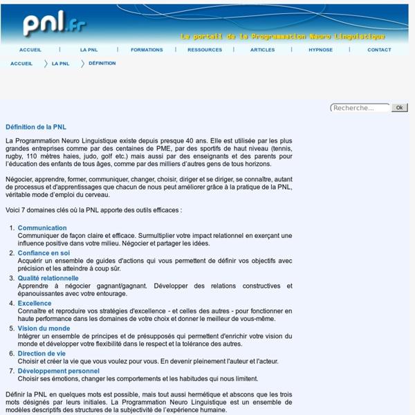 PNL Définition