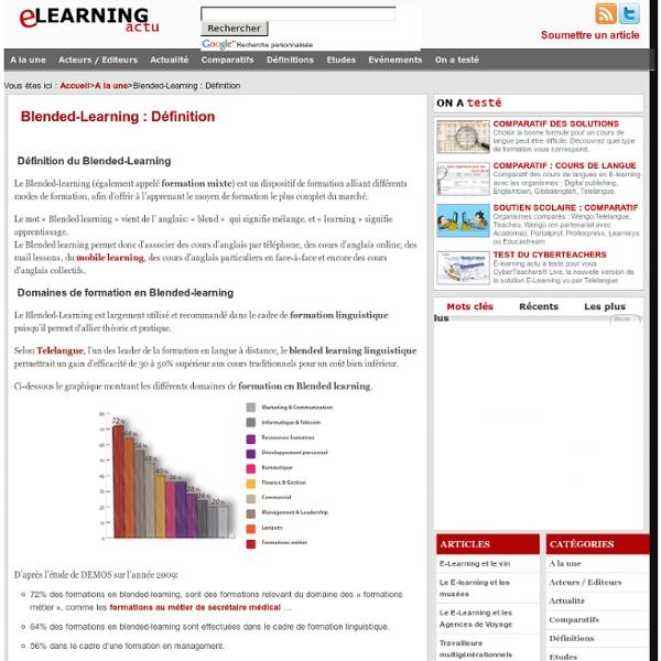 Blended-learning : Définition
