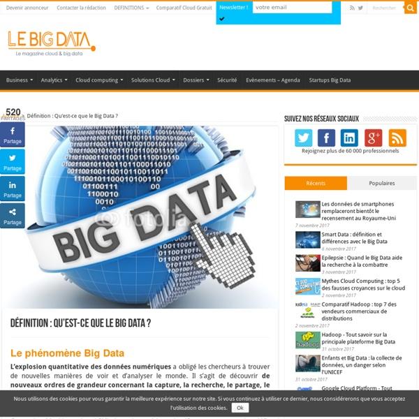 Définition : Qu'est-ce que le Big Data ? - LeBigData.fr