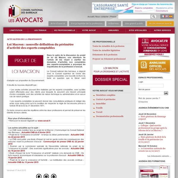 Loi Macron : nouvelle définition du périmètre d'activité des experts comptables
